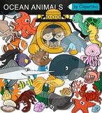 Ocean Animals Clip art Bundle (Ocean clipart by Clipartino)