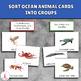 Ocean animals sorting activity + Montessori 3-part cards