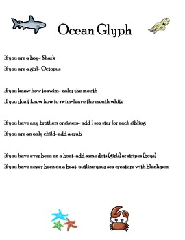 Ocean Glyph By Flukes Teachers Pay Teachers