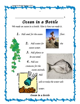Ocean in a Bottle Class Project