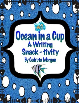 Ocean in a Cup - A Writing Snack-tivity