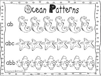 Ocean math and literacy unit