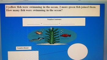 Ocean number bond/sentence addition mat