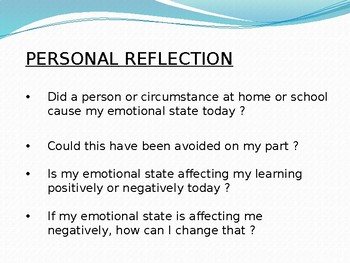 Ocean of Emotions (student reflection slideshow)