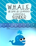 Ocean take home binder cover