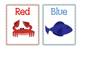Ocean theme - Color Cards