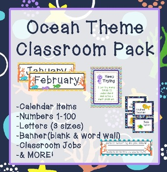 Ocean theme classroom pack