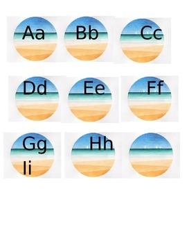 Ocean theme letters