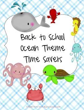 Ocean Back To School Resources