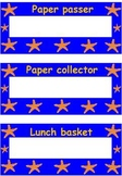 Ocean themed classroom bulletin board items