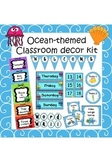 Ocean-themed classroom decoration set (with editable elements)