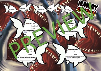 Ocean topic/shark- two step worded problem activity sheet