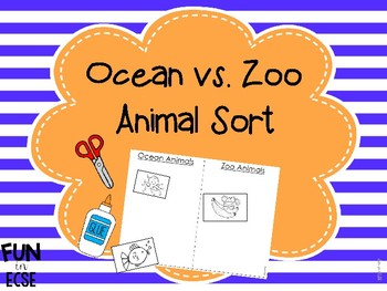 Ocean vs. Zoo Animal Sort