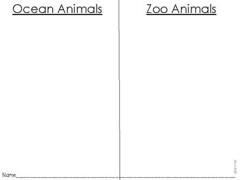 Ocean vs. Zoo Animal Sort