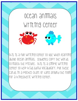 Ocean writing center