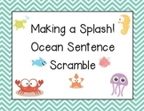 Ocean/Beach Sentence Scramble for Science, Writing Center
