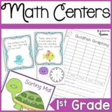 First Grade Ocean Math Center Bundle