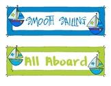 Ocean/Nautical Behavior Chart