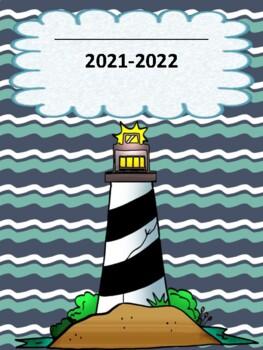 Ocean/Nautical Themed Teacher Binder/Planner English & Spanish