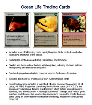Ocean Life Trading Cards