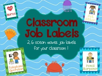 Ocean/Sea Themed Classroom Jobs