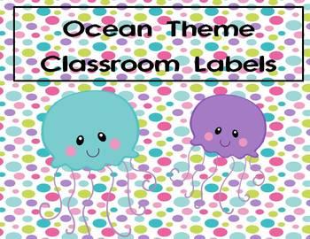 Ocean Theme Classroom Labels