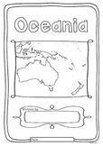 Oceania 14 Countries Study - worksheets with maps and flag
