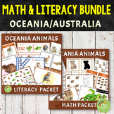 Oceania Animals Math and Literacy Bundle Pack