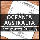 Oceania & Australia Crossword Puzzles