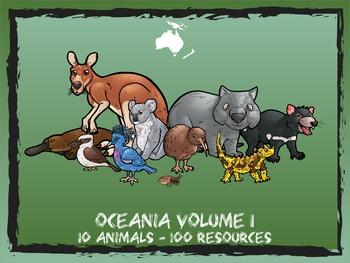 Oceania / Australia Volume 1 -- 10 Wild Animals -- 100 K-2