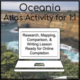 Oceania Countries Geography Atlas Activity for 1:1 Google