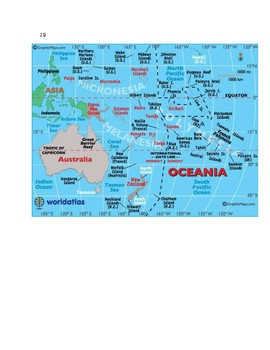Oceania Map Scavenger Hunt