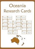 Oceania Research Cards