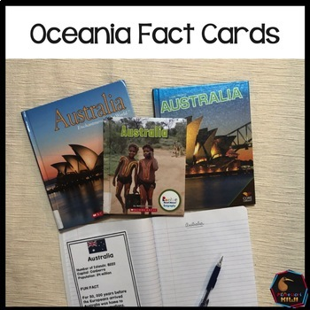 Oceania countries and territories fact cards