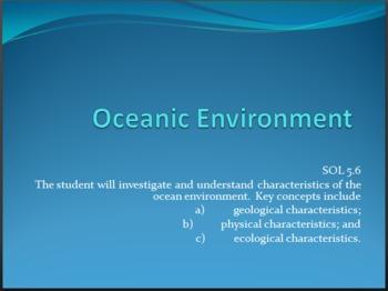 Oceanic Environment