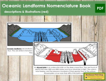 Oceanic Landforms Nomenclature Book (Red)