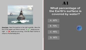 Oceanography Battleship SMARTboard Game for 5th Grade VA SOL 5.6