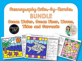 Oceanography Color by Number Bundle