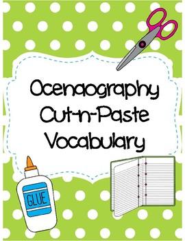 Oceanography Cut-n-Paste Vocabulary
