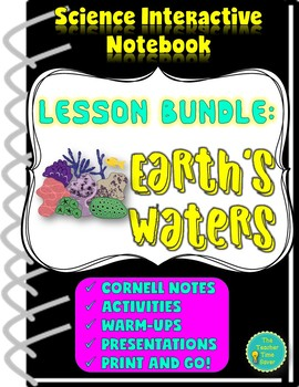 Oceanography Interactive Notebook: Earth's Waters Lesson Bundle