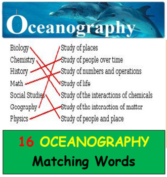Oceanography Matching Words Game (15 games all together!)