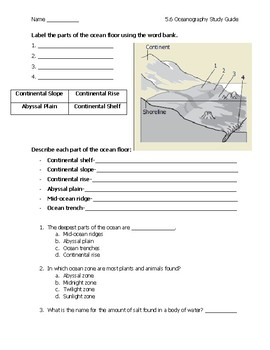 Oceanography Science Study Guide