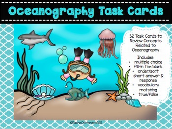Oceanography Task Cards