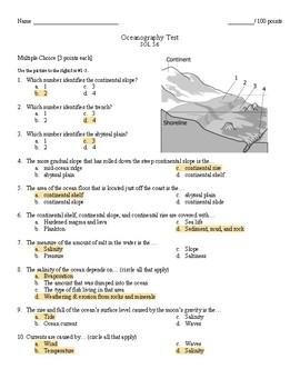 Oceanography Test