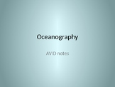 Oceanography and Free Focus Notes pages in Preview File