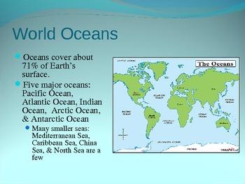 Oceanography Powerpoint By Deb S Teachers Pay Teachers - The five major oceans