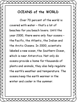 Geography: Oceans of the World