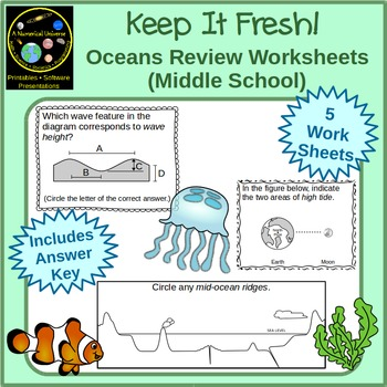 Ocean Science and Oceanography Worksheets
