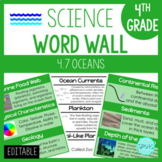 Oceans: 5th Grade Science Word Wall