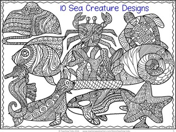 Ocean Animals: Ocean Coloring Pages